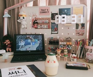aesthetic and desk image