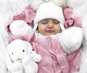 baby, bunny, and family image