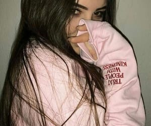 girl, pink, and aesthetic image