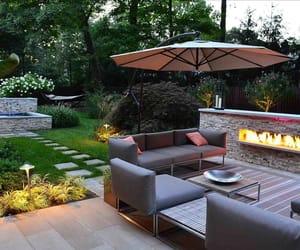 backyard, home decor, and lounge image