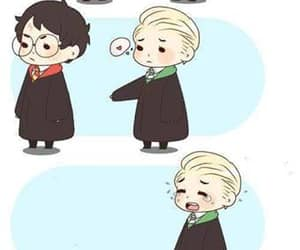 drarry, harry potter, and draco malfoy image