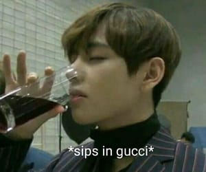 meme, bts, and gucci image