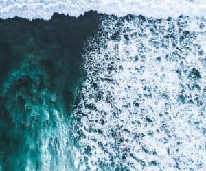 landscape, nature, and waves image