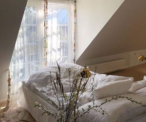 interior, bed, and white image