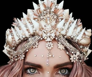 girl, eyes, and crown image