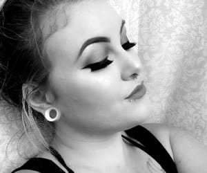 black and white, modified, and eyebrows image
