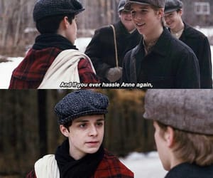 anne with an e, anne shirley, and gilbert blythe image