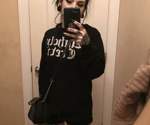 aesthetic, black hair, and emo image