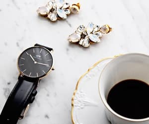 accessories, coffee, and earrings image