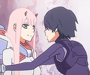 gif and darling in the franxx image