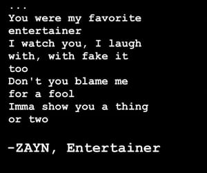 Lyrics, entertainer, and zayn image