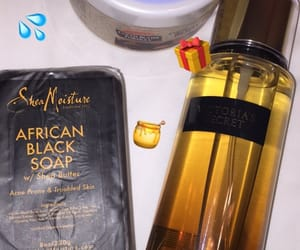 beauty, african black soap, and glowing image