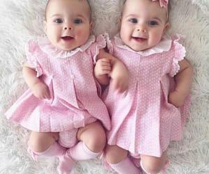 baby, girl, and sister image