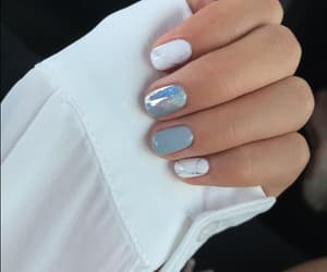 nails, white, and cute image