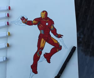 drawing, iron man, and Marvel image