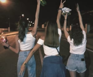 girls, night, and friends image