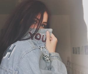 denim jacket, outfit, and grunge girl image