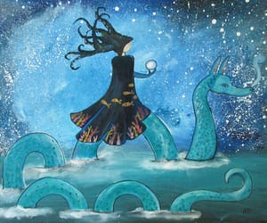 childrens art, storybook art, and whimsical painting image