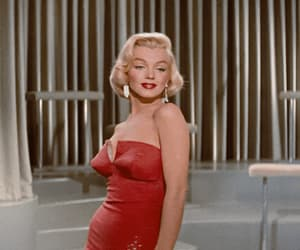 gif, Marilyn Monroe, and red image