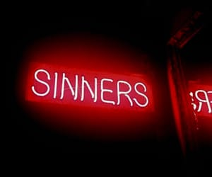 red, sinner, and neon image