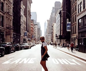 fashion, girl, and city image