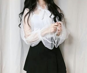 fashion, black, and korean image