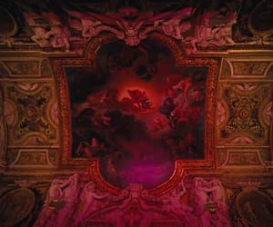 art, red, and louvre museum image