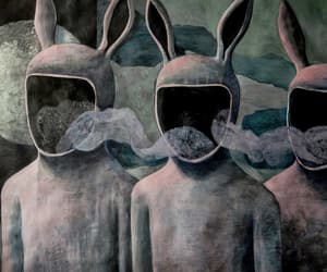 bunny, creepy, and moon image