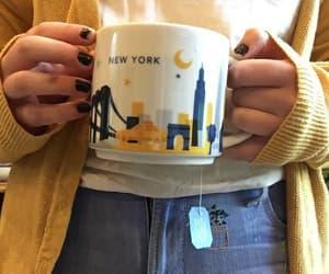 yellow, aesthetic, and mug image