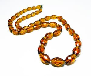 beaded necklace, crystal glass beads, and sterling clasp image