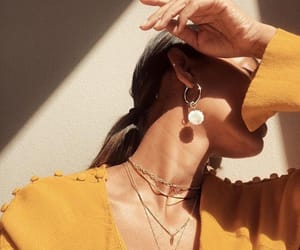 yellow, accessories, and earrings image