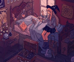 illustration, witch, and art image