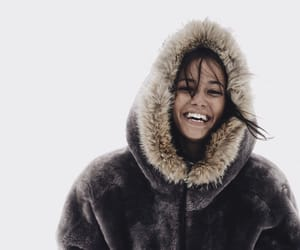 jacket, smile, and snow image