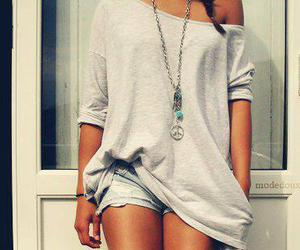 fashion, girl, and peace image