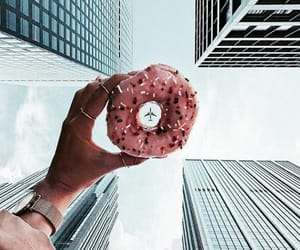 airplane, street, and donut image