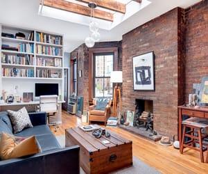 apartment, brick walls, and room inspo image