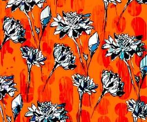 background, floral print, and illustration art image