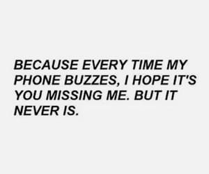 phone, quotes, and sad image