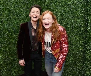 sadie sink, noah schnapp, and stranger things image