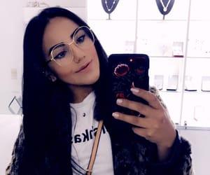 brunette, iphone, and Bershka image