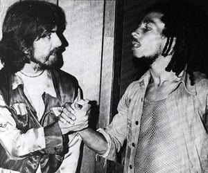 music, georgeharrison, and bobmarley image
