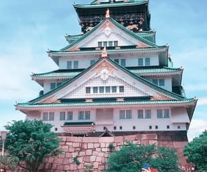 castle, osaka castle, and osaka image