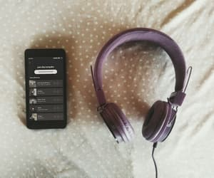 music, spotify, and fones image
