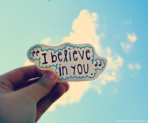 believe, clouds, and quote image