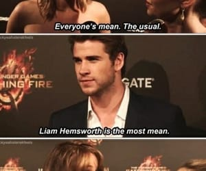 Jennifer Lawrence, liam hemsworth, and funny image