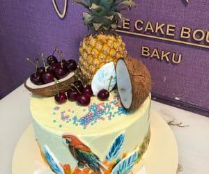 birthday, cake, and cherry image