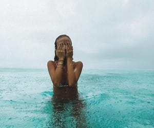 girl, ocean, and Maldives image