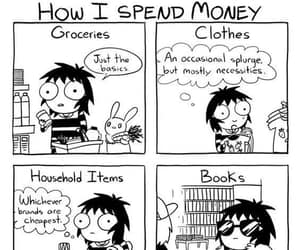 book, funny, and money image