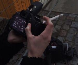 cigarette, smoke, and black image