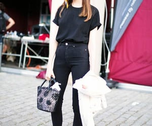 brunette, fashion, and moda image